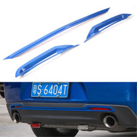 3x Auto Exterior Tail Rear Bumper Board Protector Trim Sticker Fit For Chevrolet Camaro 2017 Styling Mouldings Car Accessories
