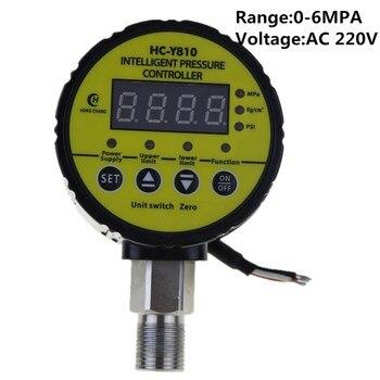 AC220V 0-6MPA переключатель давления для воздушного компрессора цифровой манометр реле выход