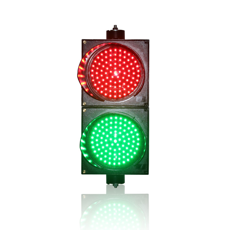 200mm Red Green Traffic Signal Light Horizontal Or Vertical Installation PC Shell LED Traffic Light For Sale