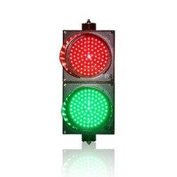 Luz de tráfico roja y verde de 200mm instalación horizontal o vertical carcasa de PC luz de tráfico LED a la venta
