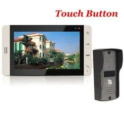 7 TFT сенсорный цветной видеодомофон дверной звонок видео домофон ИК камера дверной звонок комплект для безопасности квартиры
