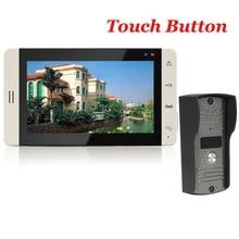 7″ TFT Touch Color Video Door Phone Doorbell Video Intercom Doorphone IR Camera Doorbell Kit for Apartment Security