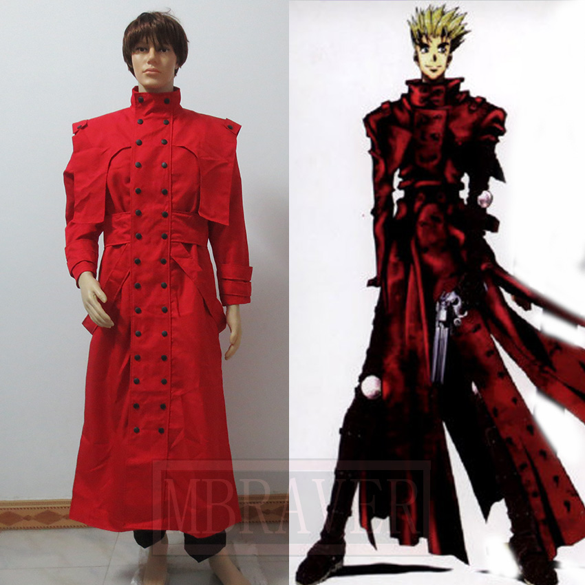 New Arrival Trigun Vash the Stampede Cosplay Costume Outfit