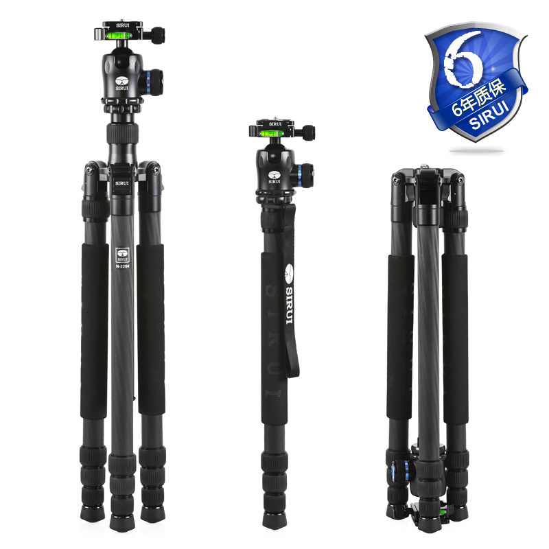 SIRUI Tripod N2204X N-2204X Carbon Fiber Camera Monopod K20X Ball Head 4 Section Carrying Bag Max Load 15kg DHL Free Shipping