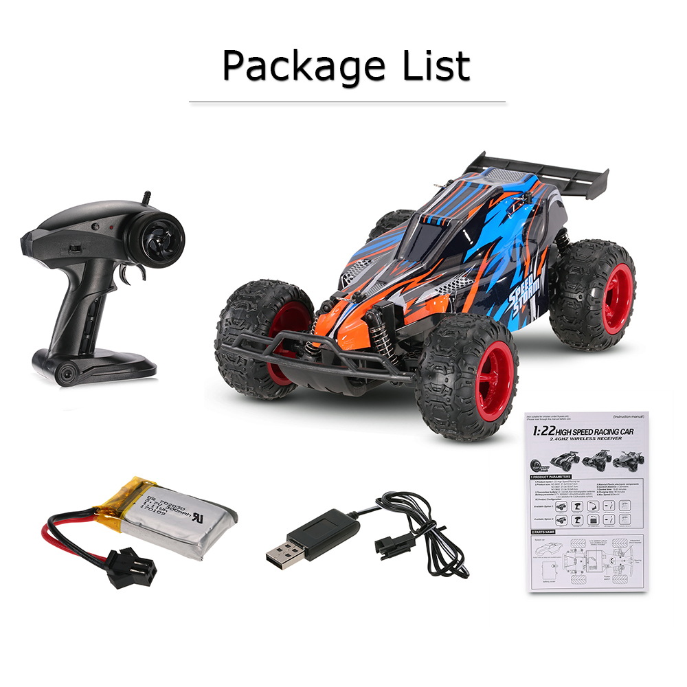 GoolRC 1:22 RC Car 2.4G 20km/h 2WD Electric Speed Racing Buggy Remote Control Car Model Off-Road Vehicle Toys Birthday Christmas