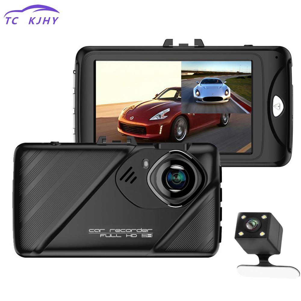 2018 Auto Dual Lens Dash Camera 3 Inch Dash Cam Car Dvr Video Recorder Hdr G-sensor Night Vision Registrator Car Dvrs Display