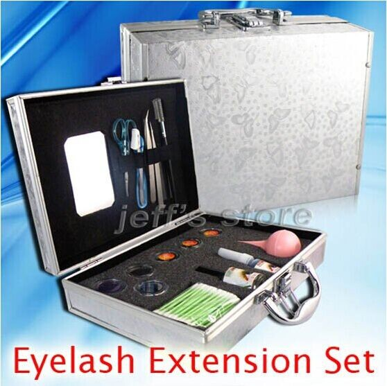 New Pro False Eyelashes Eye Lash Extension Set Kit Case Gife тушь для ресниц physicians formula eye booster instant lash extension kit ультра черный