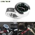 Universal 22mm Motocicleta Guiador Montar Relógio de Quartzo Relógio para Honda Yamaha Suzuki Kawasaki Harley Davidson