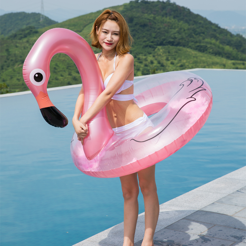 Flamingo Swan Swimming Ring With Feature 2019 Summer Inflatabe Tuber INS Hot Women Pool Rafts Water Float Air Mattress Fun Toys