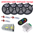 20M 5050 RGB LED Strip Kit 15M 10M Waterproof Flexible Tape Light Fita Diode 5 Key RF Remote RGB Controller Touch Dimmer Power