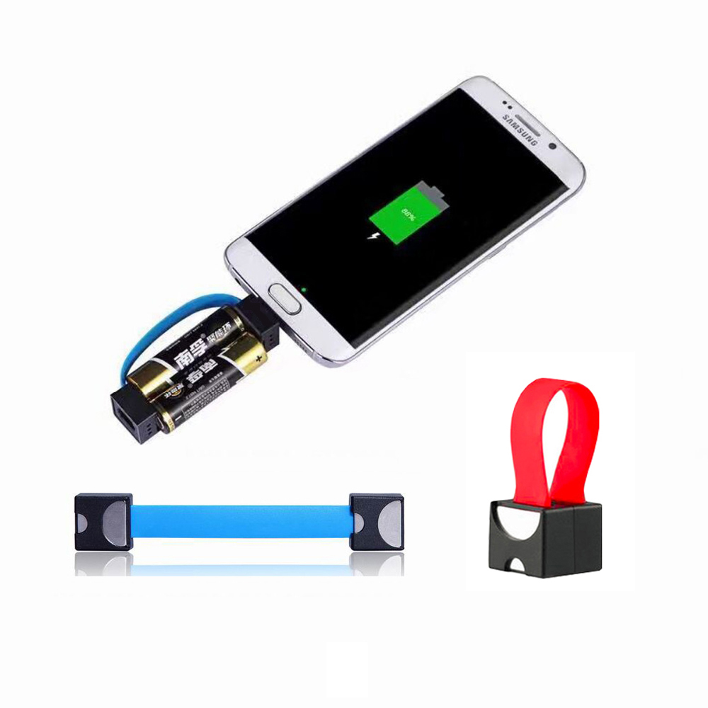 Micro USB Cable Mini Portable AA Battery Powered Emergency Power Charger for Samsung/huawei/XiaoMi For Android Phone