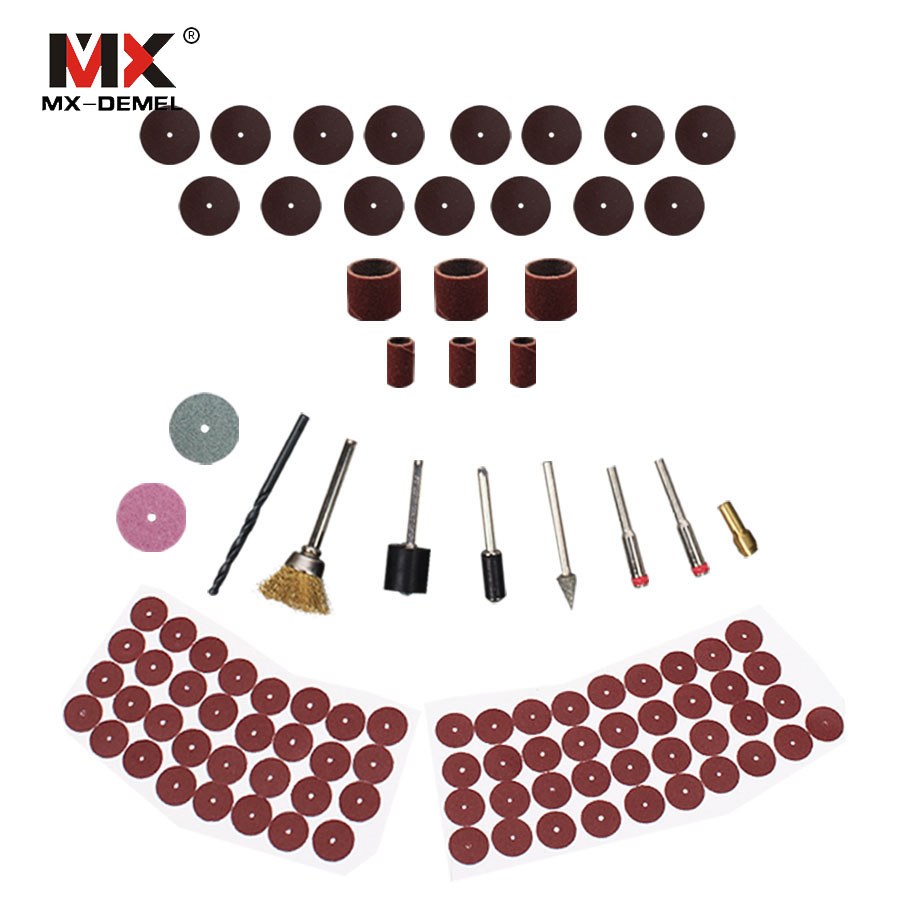 MX-DEMEL 102Pcs Grinding 1/8 Wood Polishing Electric Rotary Tool Accessories Bit Set For Dremel Power Tool Accessories mx demel high quality 17pcs 1 2 felt polishing wheels dremel accessories fits for dremel rotary tools dremel tools small