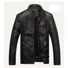 Men's Fashion PU Leather Fleece Lined Winter Coat Jacket Parka Tops Zipper Collar Biker Overcoat Motorcycle Cool Oversize XXXL