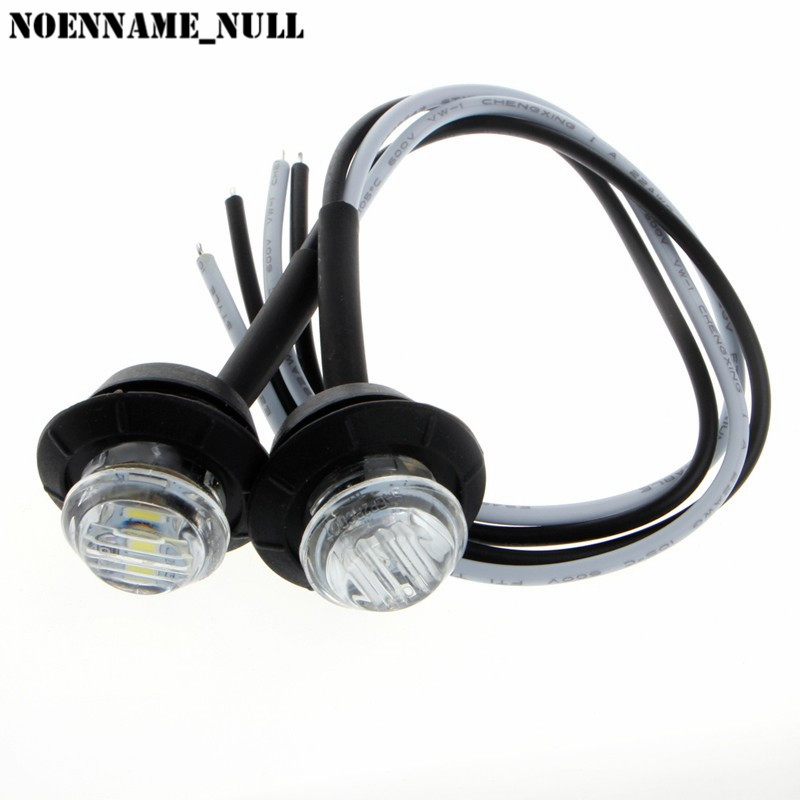 NoEnName_Null 2X Mini 3/4 Round Side 3 LED Marker Trailer Car Bullet Light Waterproof White #kui николай михайловский н в шелгунов