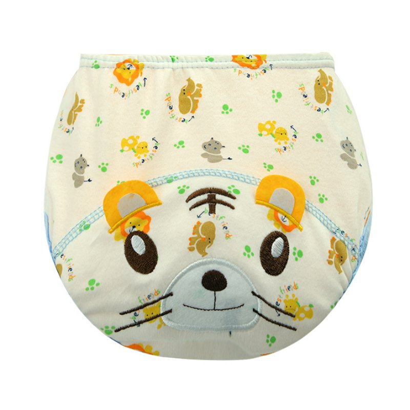 Baby Boys Girls Kid Toilet Training Pull-up Pants Waterproof 3 Layers Animals US