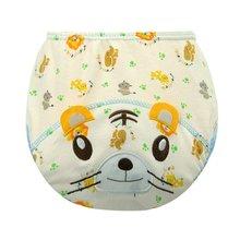 Подтягивающий y слоя штаны туалет обучение девочки животных мальчики водонепроницаемый детские