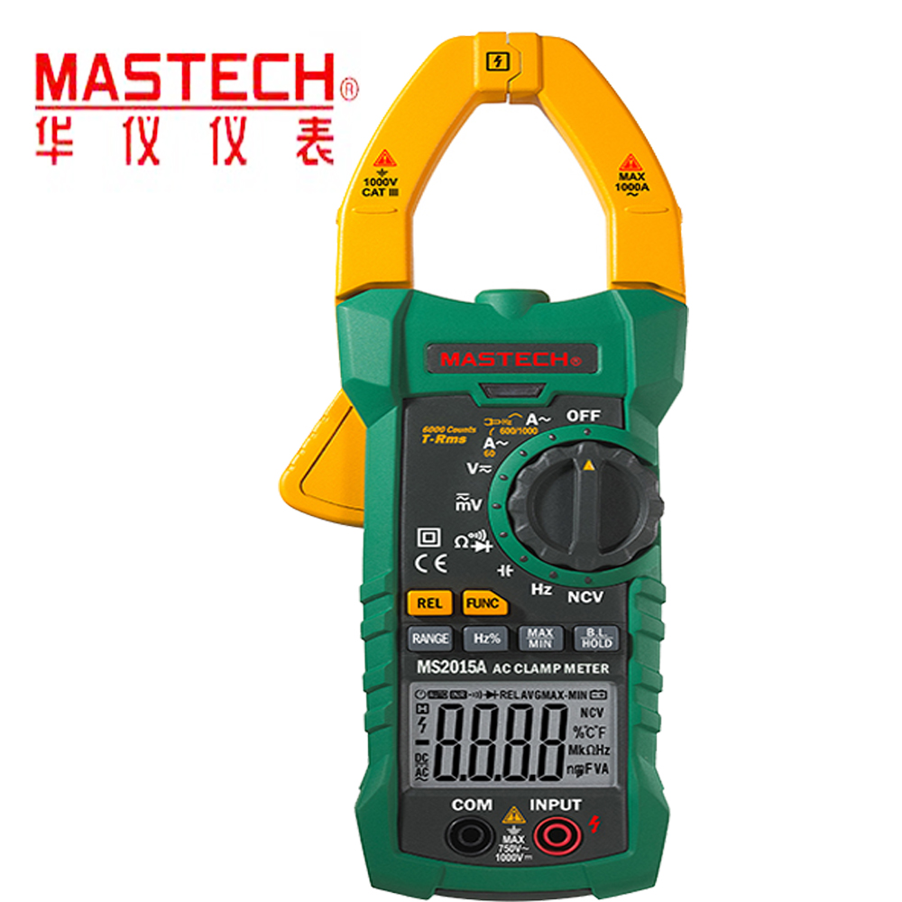 MS2015A Digital Clamp multi-function Multimeter AC1000A Current Clamp Meter True RMS Multimeter Frequency Capacitance Tester NCV 1 pair silicone wire universal probe test leads pin for digital multimeter needle tip multi meter tester probe 20a 1000v