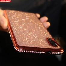 Чехол для Samsung Galaxy A50 A30 A20 A10 A70 A90 A40 A60 M10 M20 M30 M40 50 м 30 20 Чехлы со стразами Блестящий металлический блеск мягкий ТПУ чехол с мультипликационным рисунком