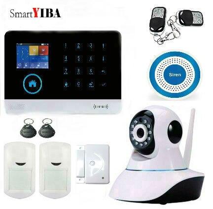 SmartYIBA WiFi 2G GSM APP Control RFID Burglar Alarm GPRS SMS Alarm Wireless Siren Surveillance Camera For Home Protection Alarm