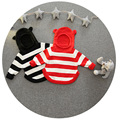 2016 New Girls Winter Sweater Striped Baby Boys Sweaters Cartoon Girl Clothes Baby Boy Cardigan Girls Sudaderas