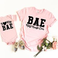 e2577e3a OKOUFEN BAE Best Aunt Ever Auntie I Love My BAE T-shirt Matching Family Kid