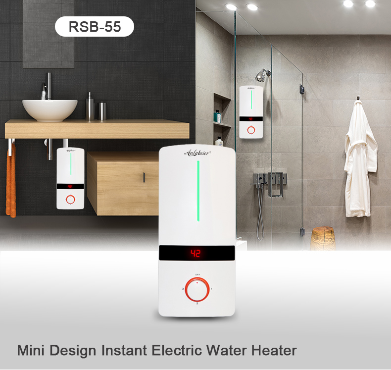 IPX4 220V-240V 3.5-5.5kW Knob Control Tankless Water Heater With CE Certificate