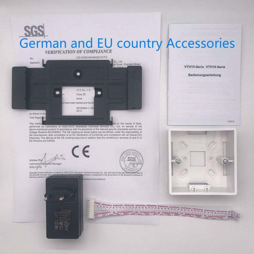 AHUA Multi-Langue CE VTH1550CH 7-pouces Tactile Moniteur D'intérieur, International verision, IP sonnette, vidéo Interphone, filaire sonnette - 6