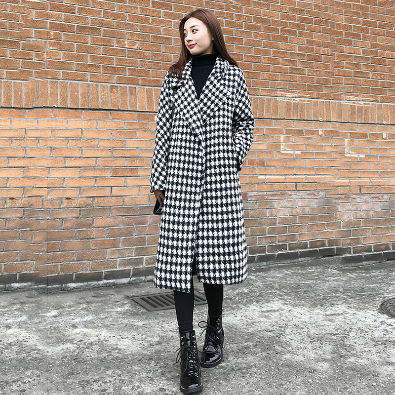new arrival high quality women fashion comfortable thick warm   trench   coat professional temperament outdoor big size long   trench