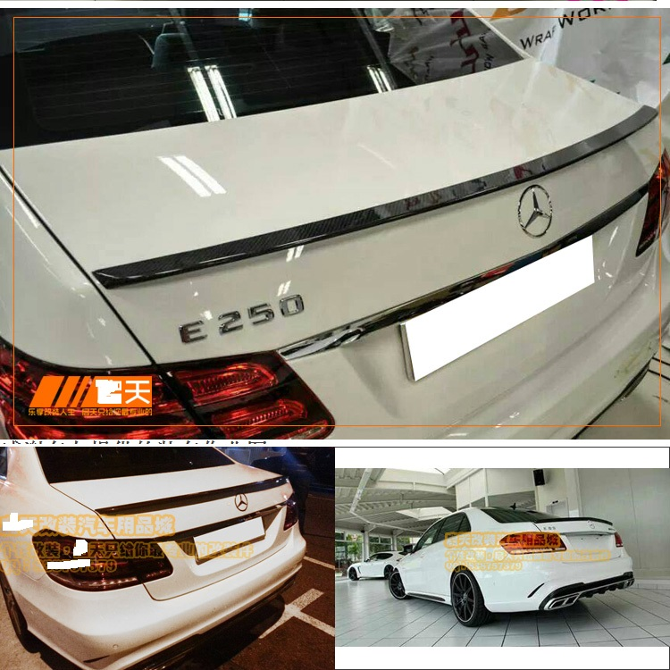 stock Fit for <font><b>Mercedes</b></font>-Benz E <font><b>W212</b></font> E200E260LE300lE400 E250 AMG carbon fiber rear spoiler image
