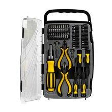 Набор отвёрток STAYER 25311-H41 (41 предмет, реверсивная отвертка с магнитным держателем, бокорезы, тонкогубцы, биты и торцевые головки, двухкомпонентные рукоятки)