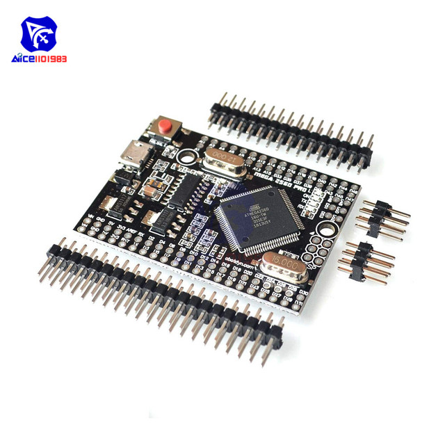 MEGA2560 PRO EMBED Micro USB Adapter Development Board CH340G ATMEGA2560-16AU for Arduino ATmega2560 Expansion Module with Pin