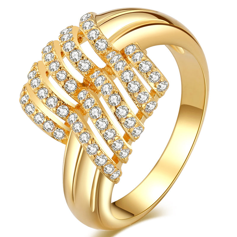 Round Finger Ring Hollow Cute Shine Romantic Woman Gold Silver Ladies Elegant Engagement Wedding Silver Lovers Ring in Rings from Jewelry Accessories