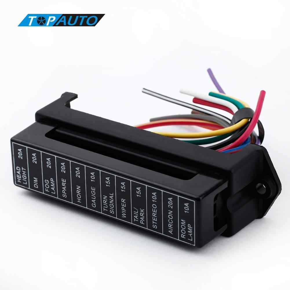 small resolution of kkmoon 12 way dc 12v volt fuse box 24v 32v circuit car trailer auto blade fuse