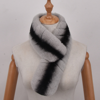 Women Scarf Winter Luxury Knitted Female Real Rex Rabbit Fur Scarf Collar Warm Neck scarves
