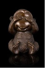 Hot sales Antique bronze monkey statuette Chinese mascot statues fengshui sculpture hd-049(China)