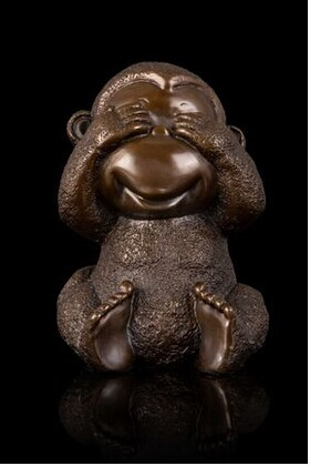 Hot sales Antique bronze monkey statuette Chinese mascot statues fengshui sculpture hd 049