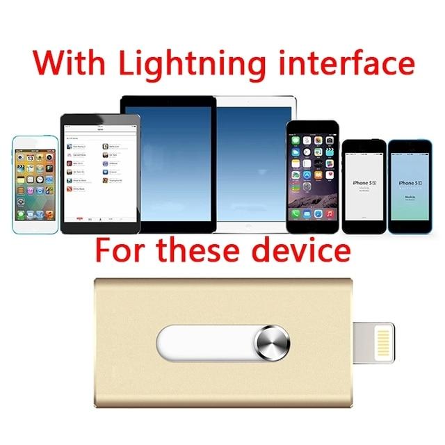 Pendrive 16 ГБ 32 ГБ 64 ГБ Для iPhone OTG USB Флэш-Накопители 100% Расширение Емкости Для iphone/ipad/iPod, Micro Pen Drive Для ПК/MAC