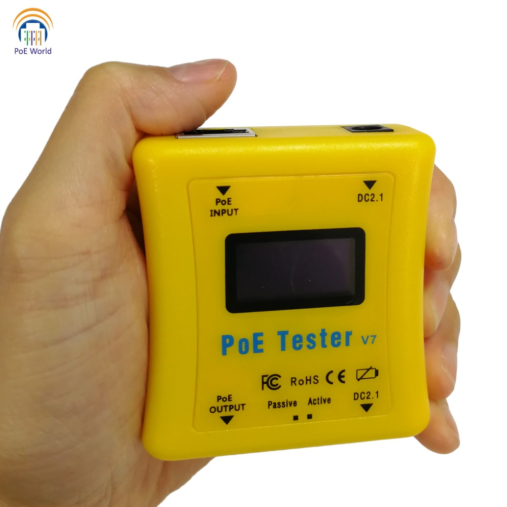 Image 4 - PoE World CCTV Tools PoE tester PoE Detector LED Display Testers Inline Power over Ethernet Voltage and Current Tester-in Transmission & Cables from Security & Protection