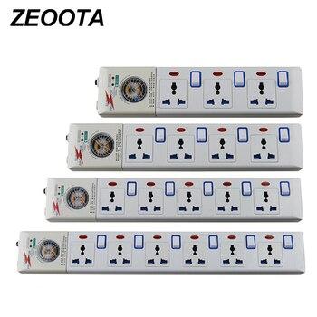 Tira de alimentación 3/4/5/6 AC enchufe Universal, 3 m/2500 FT protección de sobrecarga conmutada Individual W, 10 A, Material ignífugo PC