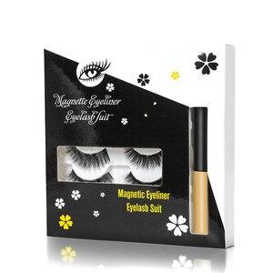 Image 4 - Bộ 4 Đôi Tất Nam Châm Mi Từ Liquid Eyeliner & Từ Lông Mi Giả & Nút Gài Bộ Chống Thấm Nước Bền Cây Nối Mi