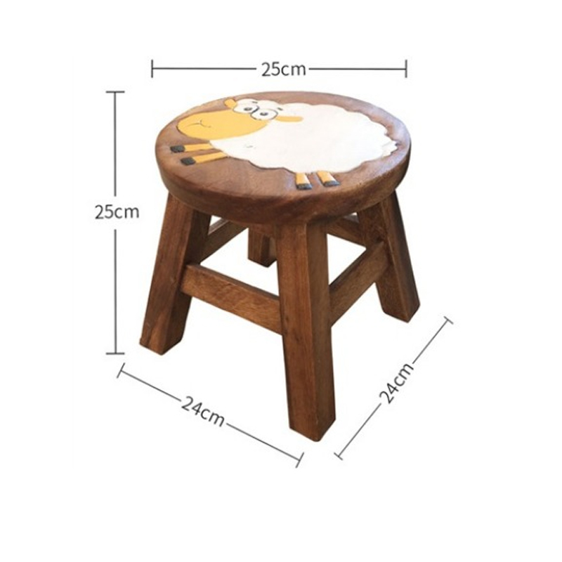 Stupendous Us 34 67 15 Off 15 Cartoon Animal Childrens Small Bench Natural Wood No Smell Hand Carved Painted Home Durable Baby Shoe Bench 24 25Cm In Stools Andrewgaddart Wooden Chair Designs For Living Room Andrewgaddartcom