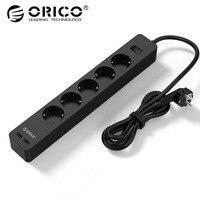 ORICO GPC Electric Socket Smart Socket with 2 USB Port Intelligent EU Plug Socket Adpter for Home Commercial
