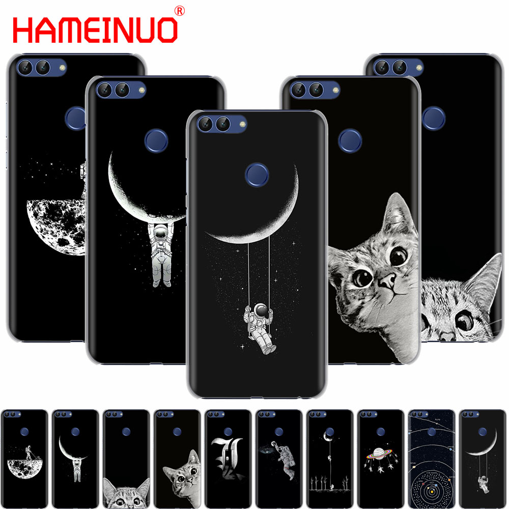 Generous Space Moon Cute Cats Black Cell Phone Cover Case For Huawei Honor 7c Y5 Y625 Y635 Y6 Y7 Y9 2017 2018 Prime Pro We Take Customers As Our Gods Cellphones & Telecommunications