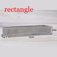 GREAT 1pcs Stainless Steel Cake Mousse Ring 3D Rectangle Cake Mold With Venting Holes Cake Fondant Decorating Tools