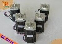 EU GRATIS CNC Wantai 5PCS Nema23 Stappenmotor WT57STH115-4204A 425oz-in 115mm 4.2A CE ROHS ISO Graveur Laser Machine