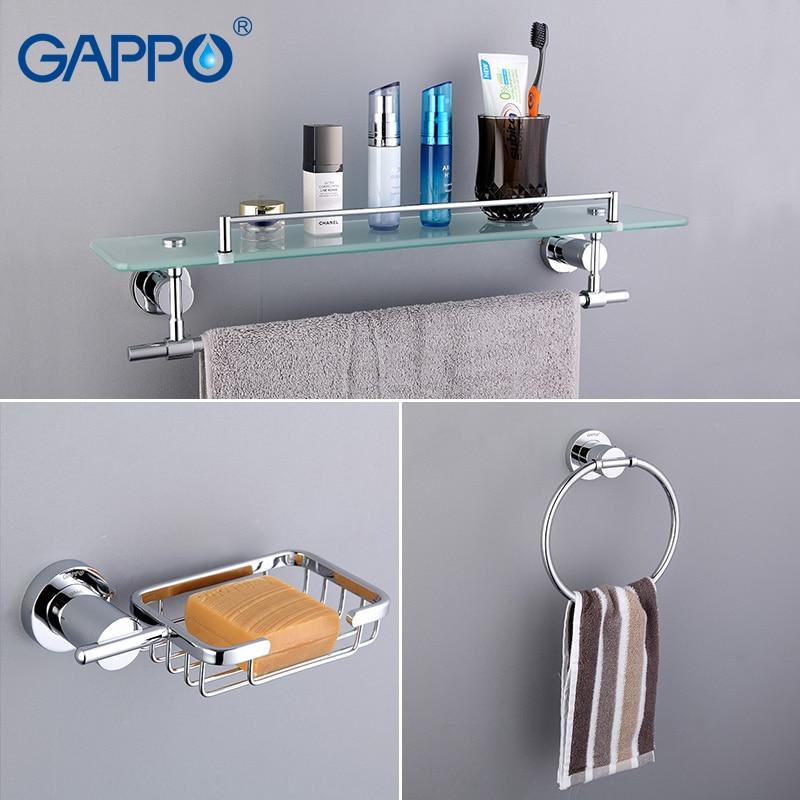aliexpresscom buy gappo bathroom accessories towel barpaper holderdouble toothbrush holderbathtowel backtowel ringbathroom sets ga18t13 from