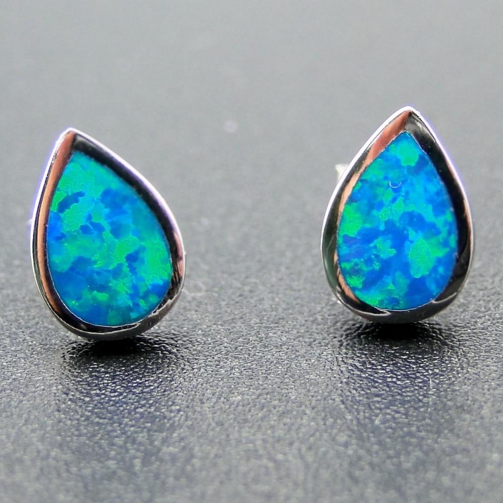 Wholesale Simple Style Fire Opal Earring 100% 925 Sterling ...