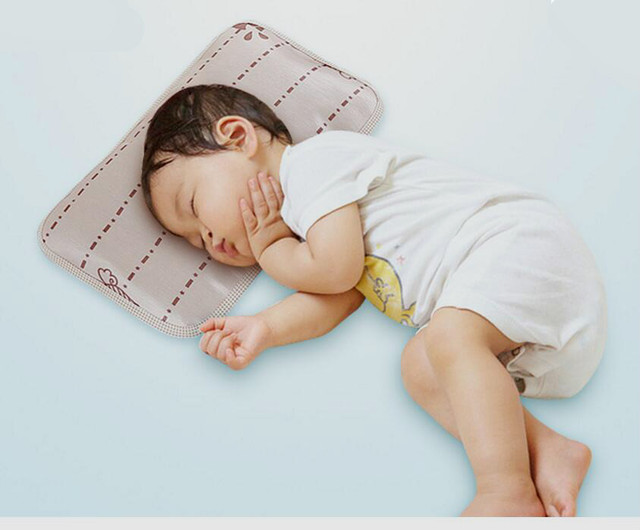 Hot selling summer flax baby pillow natural fabric comfortable buckwheat baby pillow