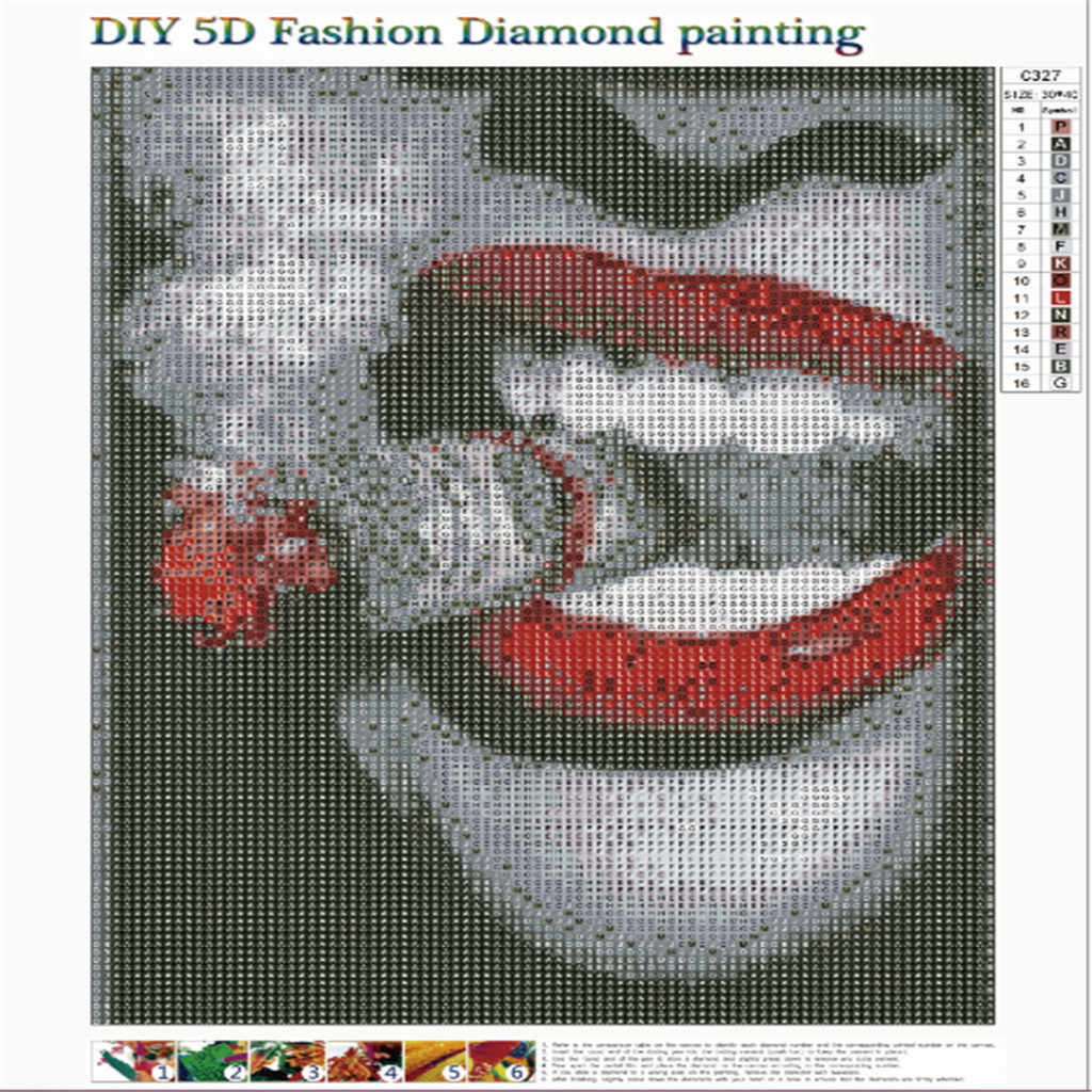 Canvas Painting Full Square Dirll Embroidery Posters Rhinestone Pasted 5D DIY Diamond Paintings Cross Stitch 19Jan22 P35