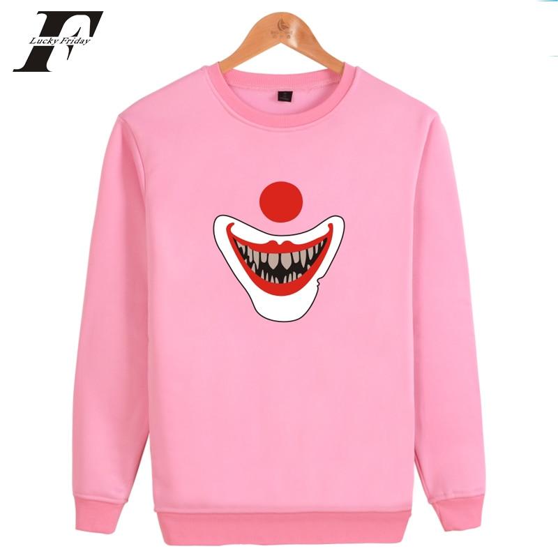 Horror Movie It Pennywise Oversized Hoodies Sweatshirt Men Women Clown Stephen King Winter Thick Warm Zipper Hooded Jacket Coats Hoodies & Sweatshirts